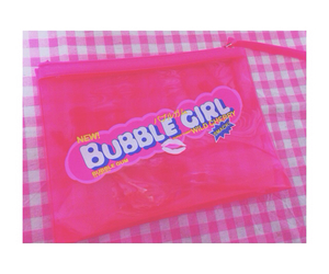 bubble, bubble gum, and girl image
