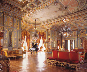 decor, mansion, and music room image