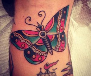 butterfly, color, and geometric image