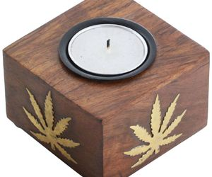 home decor, wooden, and tealight holders image