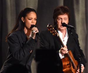 grammys, Paul McCartney, and rihanna image