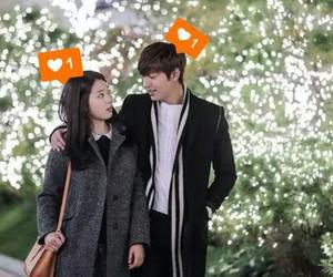 cute couple, park shin hye, and love image