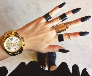 accessories, black, and clock image
