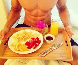 body, food, and guy image