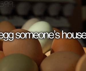 bucket list, egg, and house image
