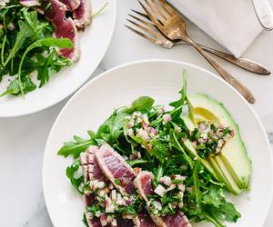 avocado, healthy, and salad image