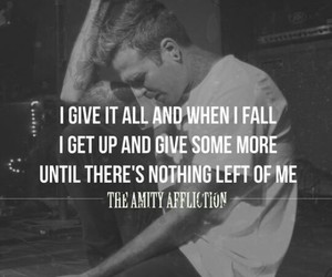 band, the amity affliction, and give it all image