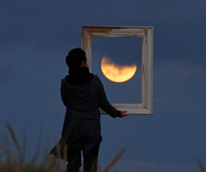 moon, photography, and night image
