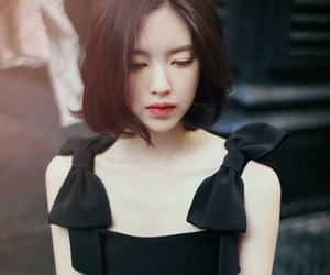 asian, black dress, and 윤선영 image
