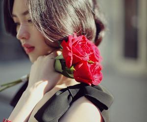 beautiful, black dress, and girl image