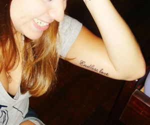 new, smile, and tattoo image
