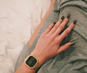 nails, accessories, and watch image