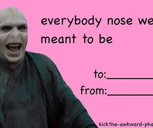 voldemort, funny, and valentines day image