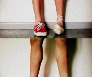 dance, ballet, and vans image