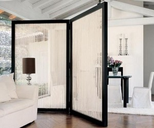 creative room dividers, interesting room dividers, and antique door room divider image