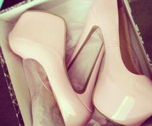 heels, pink, and pumps image