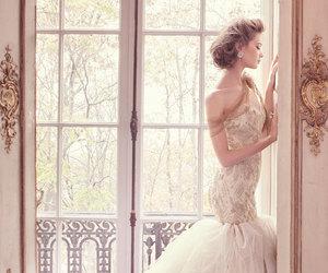 wedding, wedding dress, and beauty image