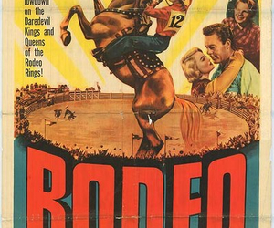 cowboys, old poster, and rodeo image