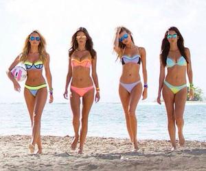 beach volleyball, bikini, and volleyball image