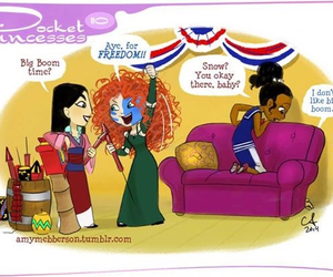 pocket princesses, disney, and merida image