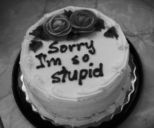 cake, sorry, and stupid image