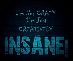 insane, crazy, and quote image