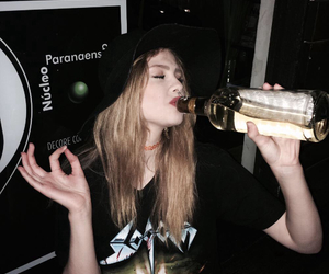 girl and drunk image