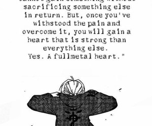anime, fullmetal alchemist, and quote image