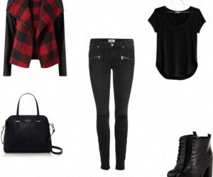 black and Polyvore image