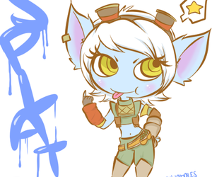 tristana, league of legends, and doodly doodles image