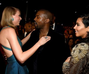 kanye west and Taylor Swift image