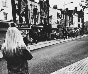 black and white, blonde, and camden town image