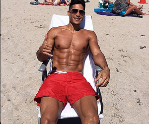 abs, beach, and boy image