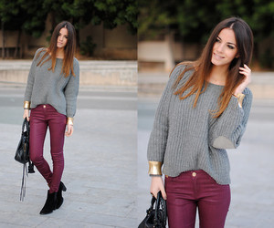 outfit and burgundy image