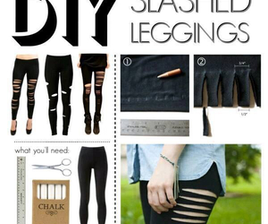 diy, leggings, and tutorial image