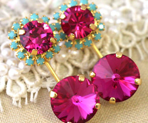 earrings, fashionista, and pink image