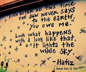 love, quote, and sun image