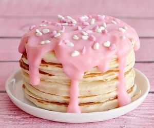 breakfast, icing, and pink image