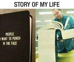 funny, people, and book image