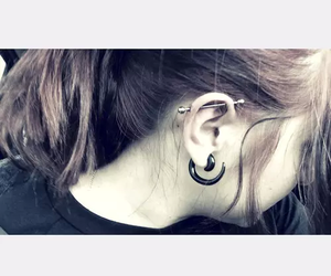 industrial, piercing, and industrial piercing image