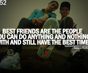 best friends, boy, and quote image