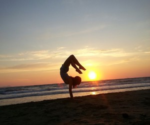 balance, beach, and flexible image