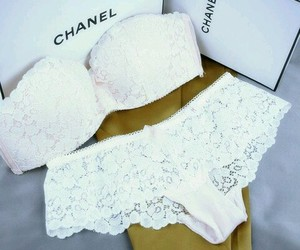 chanel, white, and underwear image