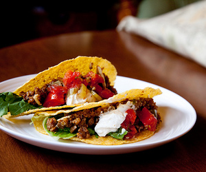 food, mexican food, and taco image