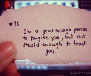 quote, trust, and forgive image