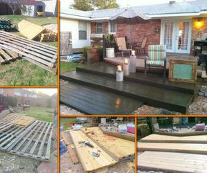 diy pallet wooden deck image