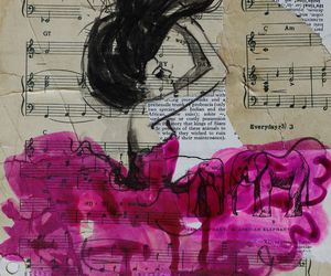 music, art, and pink image