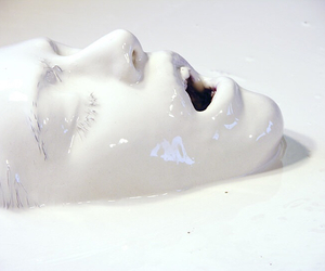white, face, and art image