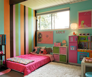 bedroom, colorful, and pink image