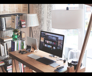 desk, study, and studying image